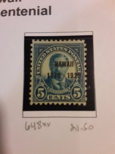 United States #648             MNH