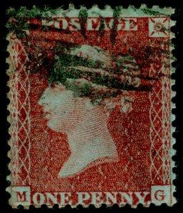 SG24, 1d red-brown PLATE 20, SC14 DIE II, FINE USED. Cat £400. MG