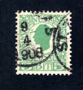 Danish West Indies #31,  VF,  Used,   CV $3.25 ....1630027