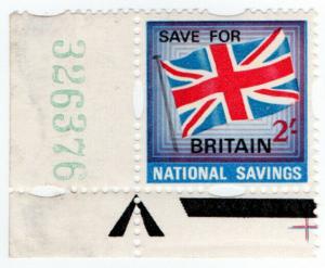 (I.B) Cinderella Collection : National Savings - Union Jack 2/-