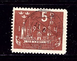 Sweden 197 Used 1924 issue #1