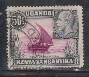 KENYA UGANDA & TANGANYIKA Scott # 52 Used - KGV & Boat