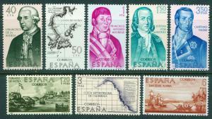 SPAIN Scott 1489-1496, MNH** Builders of new world set 1967
