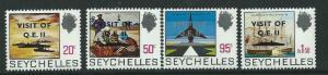 SEYCHELLES SG334/7 1975 VISIT OF R.M.S. QUEEN ELIZABETH .II MNH