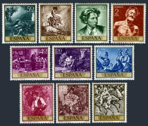 Spain 1512-1521,MNH.Michel 1796-1805. Mariano Fortuny y Carbo paintings.1968.