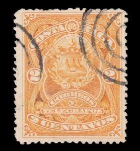 COSTA RICA STAMP 1892 SCOTT # 36. USED. # 2