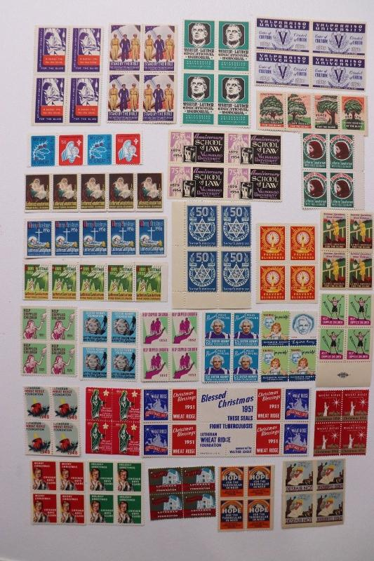Lot 31 block charity seal Jewish Christian boys home club Hope TB Christmas DC