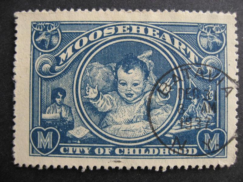 USA Mooseheart, city of childhood label, SON cancelled Batavia NY 1937