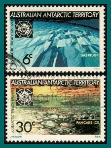AAT 1971 Antarctic Treaty, used #L19-L20,SG19-SG20