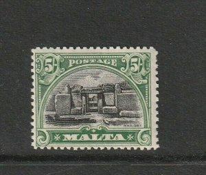 Malta 1926 defs Postage , 5/- MM SG 171