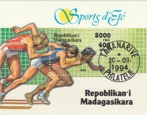 Malagasy Republic 1995 Sports Running Sheet Used 11891