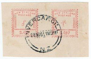 (I.B) New Zealand Postal : Commercial Frank 1/9d (Invercargill)