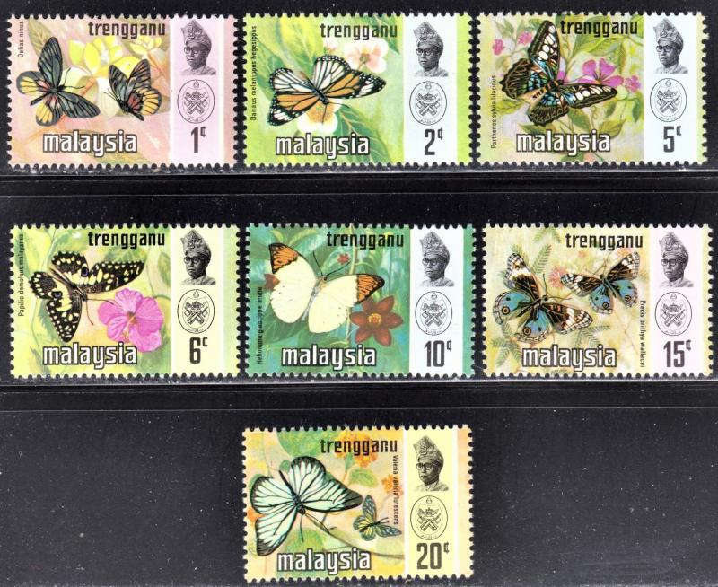 Malaysia Trengganu Scott 96-102  complete set  F to VF mint OG H or HR.