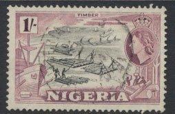 Nigeria  SG 76 SC# 87 Used  QEII 1953  Timber  see scan