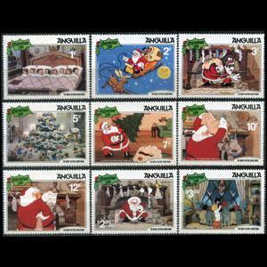 ANGUILLA 1981 - Scott# 453-61 Disney-Christmas Set of 9 NH