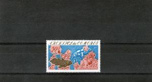 Comoro Islands 1975 Scuba Diver-Fish Set (1) Perf.MNH Sc#130