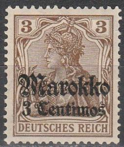 Germany Off In Morocco  #45  F-VF Unused  (S4276)
