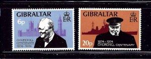 Gibraltar 316-17 MNH 1974 Winston Churchill