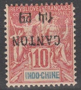 France Canton #19 F-VF Unused Inverted Overprint (S8188)