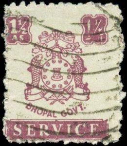 India, Feudatory States, Bhopal Scott #O50 SG #O353 Used