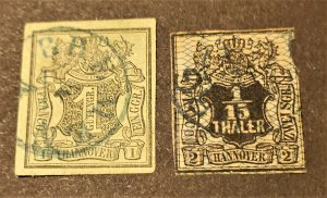 GER STATE HANOVER #s 2 & 5 USED CV $ 89.00