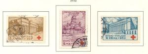 Finland Sc B9-11 1932 Red Cross stamp set used
