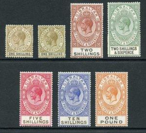 Gibraltar SG102/107 Colour change including both 1/- M/M