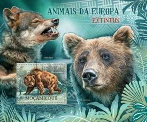 Mozambique - Extinct Animals of Europe - Souvenir Sheet - 13A-957