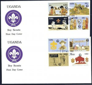 1991 Uganda Scouts 17th World Jamboree Korea FDC