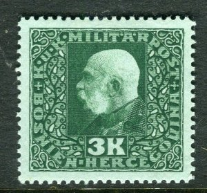 BOSNIA; MILITARY POST 1915 early F. Joseph issue Mint hinged 3K. value