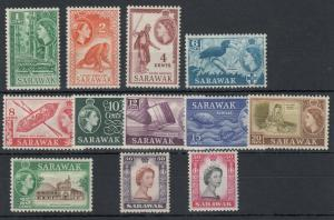 Sarawak QEII 1955 Set To 50c SG188/199 MLH J5321