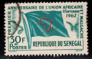 Senegal Scott 211 Used Flag stamp