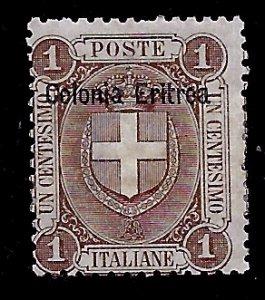 Eritrea # 12, Used. CV $ 18.00