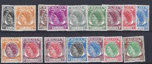 Malaya (Malacca), 29-44,Queen Elizabeth II Singles,**H**
