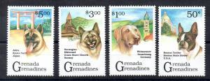 GRENADA - GRENADINES - 1993 - PEDIGREE DOGS -