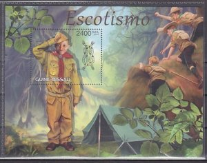 Guinea Bissau, 2012 issue. Scout Activities s/sheet. ^
