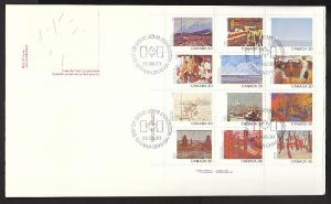 Canada 966a Paintings Souvenir Sheet Canada Post U/A FDC