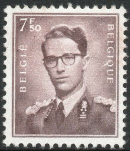 BELGIUM-1953 7F50 Brown Sg 1466 UNMOUNTED MINT V41543