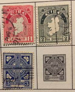1935 Eire 1,2 & 3c Stamps