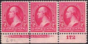 267 Mint,OG,H... Implrint/Plate# Strip of 3... SCV $22.50
