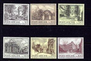 Vatican 601-06 MNH 1976 set