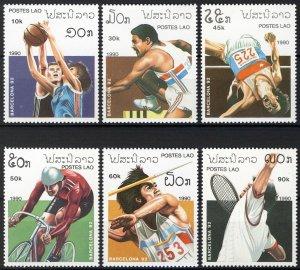 Laos 1990, Olympics Barcelona 92 set MNH