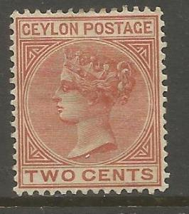 CEYLON 63  MINT HINGED,  HINGE REMNANT, PENCIL ON BACK, QUEEN VICTORIA