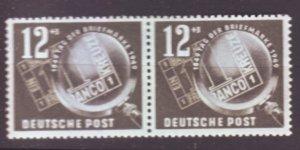 J22429 Jlstamps 1949 germay ddr set of 1 pair mnh #b14 stamps