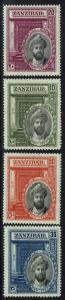Zanzibar SG# 323 - 326 - Mint Lightly Hinged (Toned Gum) - Lot 062616