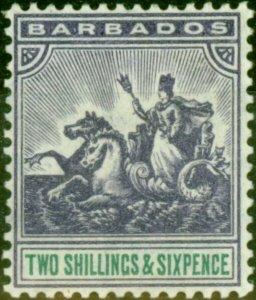 Barbados 1905 2s6d Violet & Green SG144 V.F Very Lightly Mtd Mint