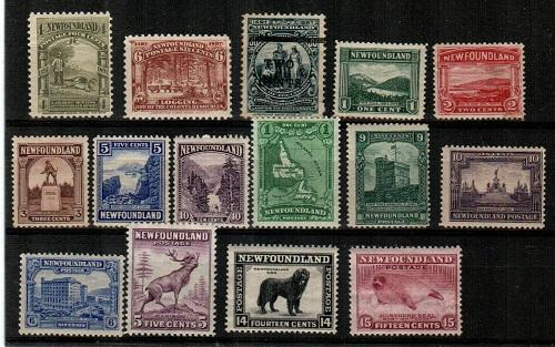 Newfoundland - mint hinged lot - see description (Catalog Value $75.80)