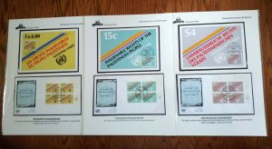 """VERY PALESTINE UN """"ONLY 25 KNOWN"""" SOLIDARITY WITH PALESTINIAN COVERS & POST CARD"""