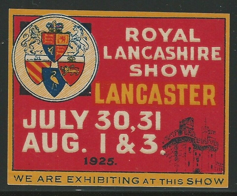Royal Lancashire Show, Lancaster, 1925, Great Britain Poster Stamp