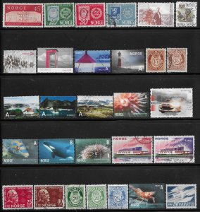 12322 -  Norway 28 diff. stamps - good starter collection
